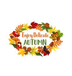 autumn seasonal harvest greeting poster vector image