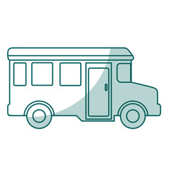 bus school isolated icon vector image