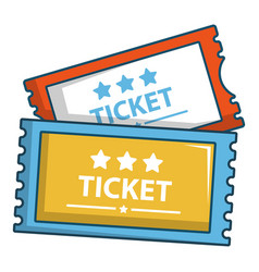 cinema tickets icon cartoon style vector image