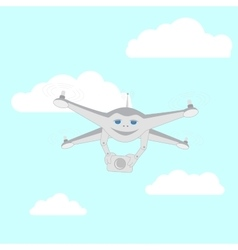 Drone with a video camera vector image