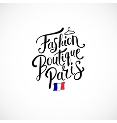 Fashion boutique paris concept on white background vector