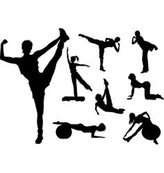 Fitness figures vector