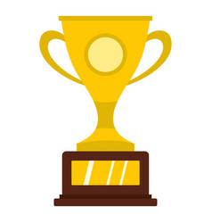 Gold winner cup icon isolated vector