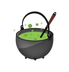 Magic kettle with spoon vector image vector image