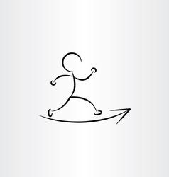 man running runner icon vector image