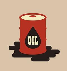 Oil barrel flat icon vector
