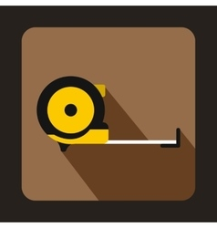 Roulette construction icon flat style vector