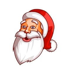 Santa claus emotions part of christmas set vector