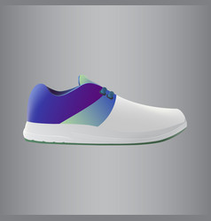 shoes design running shoes blue and green vector image