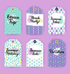 Summer trendy gift labels vector