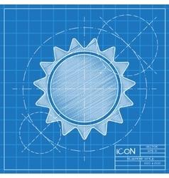 Sun icon eps10 vector