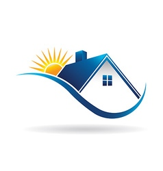 Sunset Home vector image