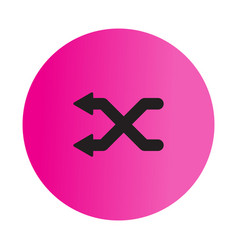Thin line shuffle icon vector