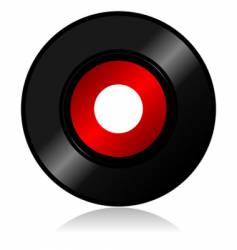 vinyl record with shadow vector image vector image