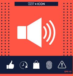 volume web symbol icon vector image