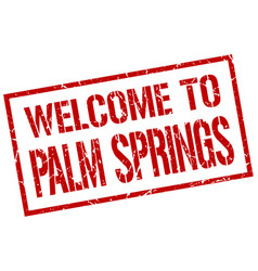 Welcome to palm springs stamp vector