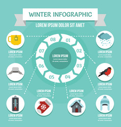 winter infographic concept flat style vector image