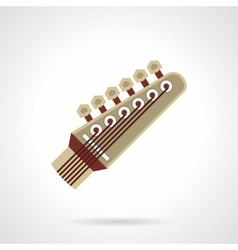 Six-string guitar head flat color icon vector
