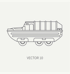 line flat plain icon infantry assault vector image