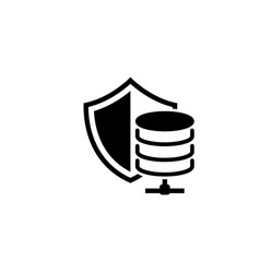 Secure hosting icon flat design vector
