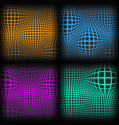Set abstract backgrounds with half tone effect vector