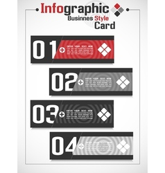 Infographic businnes card style vector