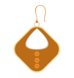 isolated single earring vector image
