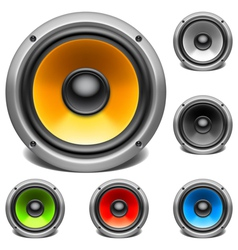 Color audio speakers vector