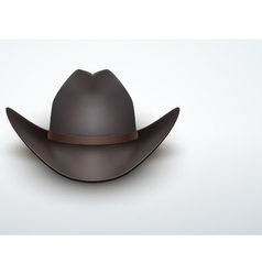 Light background black cowboy hat vector