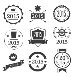 Typographic set vintage labels signs badges vector