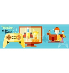 Testing video games vector