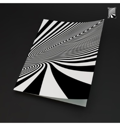 A4 business blank black and white abstract vector