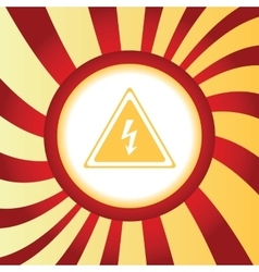 High voltage abstract icon vector