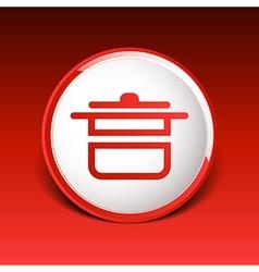 saucepan food menu kitchen soup pot design cooking vector image