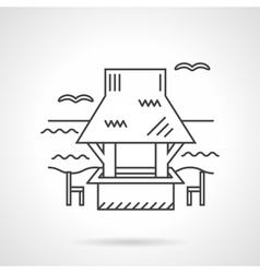 Coast gazebo thin line design icon vector