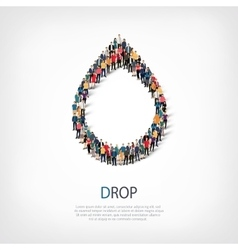 Drop people symbol vector