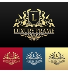 Luxury label or king place symbol element with vector
