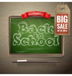Back to school sale background eps 10 vector