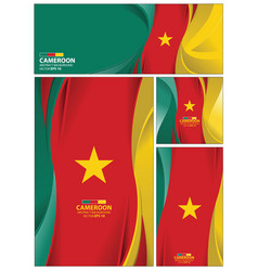 Abstract cameroon flag background vector
