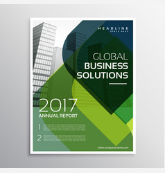 Abstract green curve shape business brochure vector