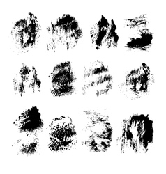 Abstract spots of black ink on white vector image vector image