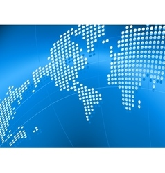 background with map of the world vector image
