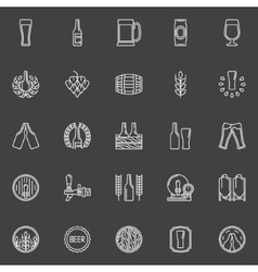Brewery and beer icons vector image