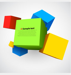 Colorful three dimensions cubes vector