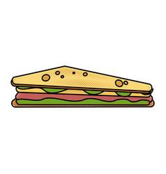 delicious sandwich food vector image