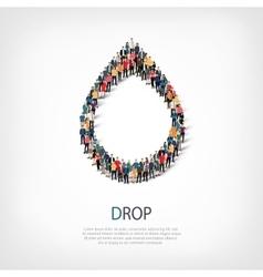 drop people symbol vector image vector image
