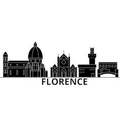 Florence architecture city skyline travel vector