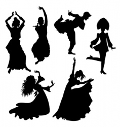 folk dances vector image vector image