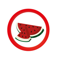 Fresh fruit product seal vector