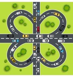 Highway traffic vector image